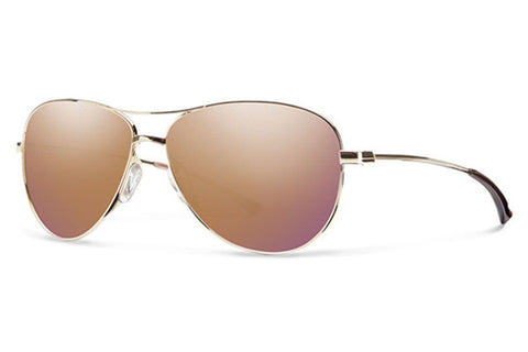 Smith - Langley Gold Sunglasses, Rose Gold Mirror Lenses