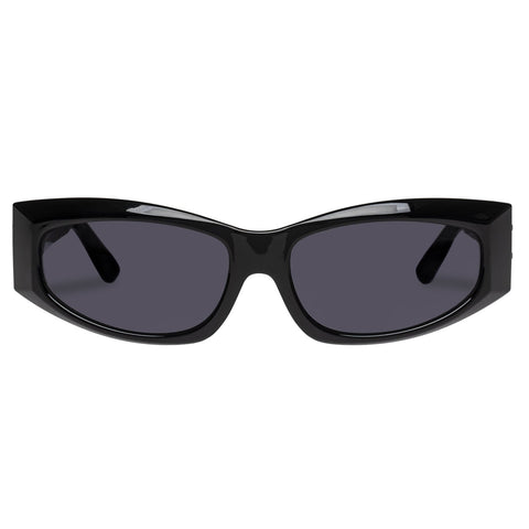 Le Specs - The Edge Black Sunglasses / Smoke Mono Mirror Lenses