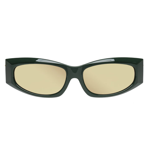 Le Specs - The Edge Army Green Sunglasses / Gold Mirror Lenses