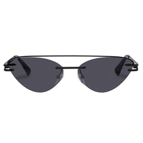 Le Specs - The Coupe 57mm Black Sunglasses / Smoke Mono Mirror Lenses