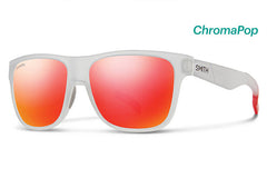 Smith - Lowdown Matte Crystal Red Sunglasses, ChromaPop Sun Red Mirror Lenses