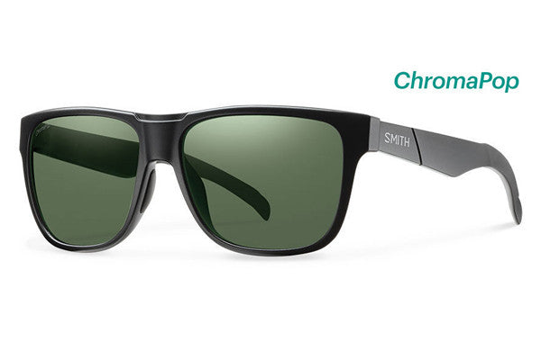 Smith - Lowdown Matte Black Sunglasses, Gray Green ChromaPop Polarized Lenses