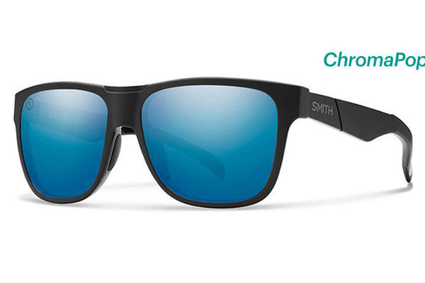 Smith Lowdown Matte Black - Salty Crew Sunglasses, ChromaPop Polarized Blue Mirror Lenses
