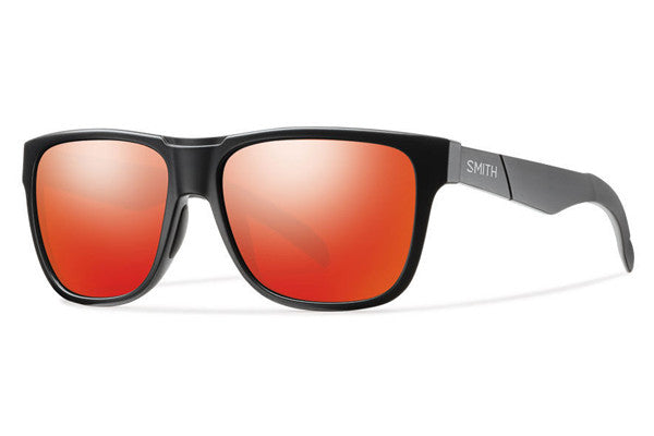 Smith - Lowdown Matte Black Sunglasses, Red Sol-X Mirror Lenses
