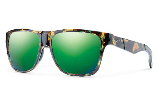 Smith - Lowdown Flecked Green Tortoise Sunglasses, Green Sol-X Mirror Lenses