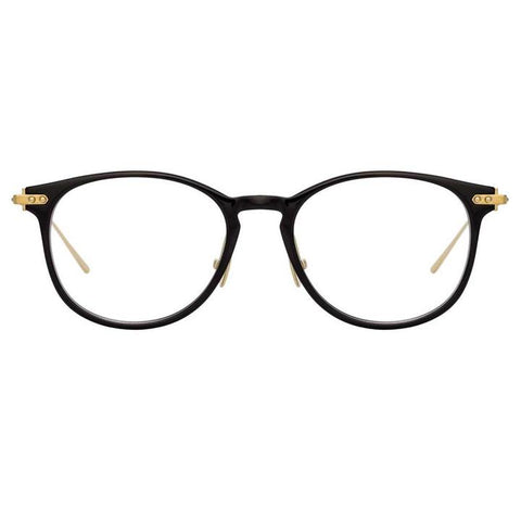 Linda Farrow Linear - Fuller 40mm Black Light Gold Eyeglasses / Demo Lenses