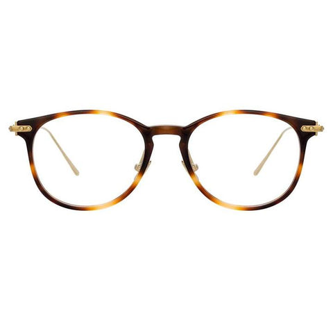 Linda Farrow Linear - Fuller 40mm Light T-Shell Light Gold Eyeglasses / Demo Lenses