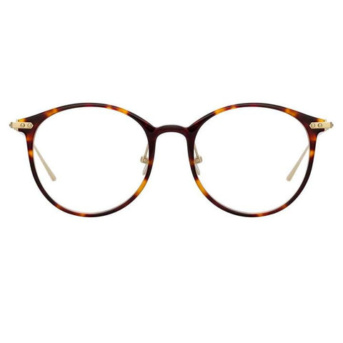 Linda Farrow Linear - Gray 51mm T-Shell Luna Gold Eyeglasses / Demo Lenses