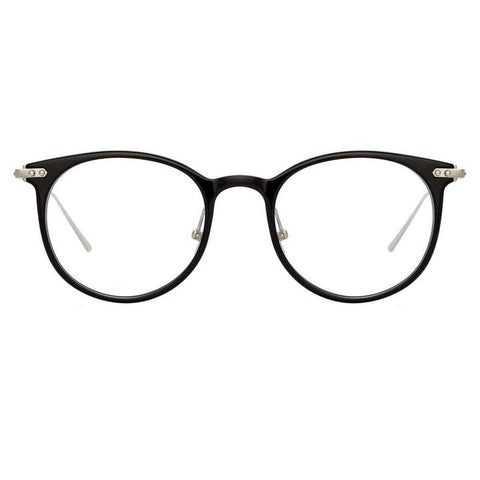Linda Farrow Linear - Childs 48mm Black White Gold Eyeglasses / Demo Lenses