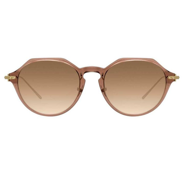 Linda Farrow Linear - Wren 52mm Tobacco Luna Gold Sunglasses / Mocha Gradient Lenses