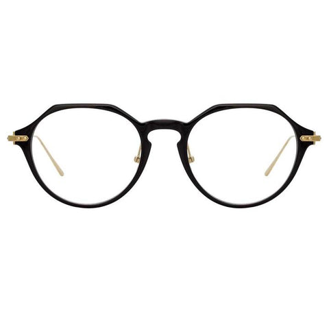 Linda Farrow Linear - Wren 52mm Black Light Gold Eyeglasses / Demo Lenses