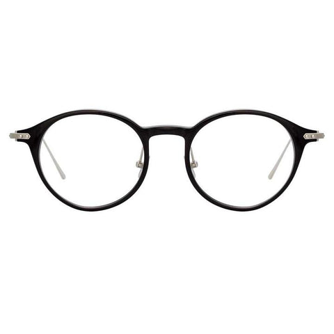 Linda Farrow Linear - Arris 49mm Black White Gold Eyeglasses / Demo Lenses