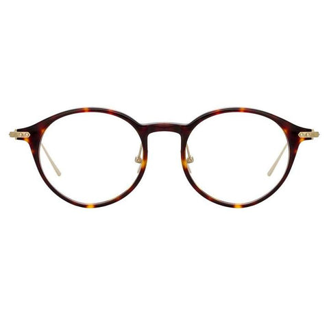 Linda Farrow Linear - Arris 49mm T-Shell Luna Gold Eyeglasses / Demo Lenses