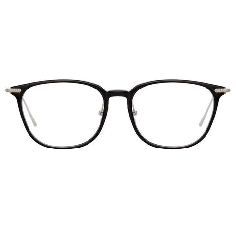Linda Farrow Linear - Wright 53mm Black White Gold Eyeglasses / Demo Lenses