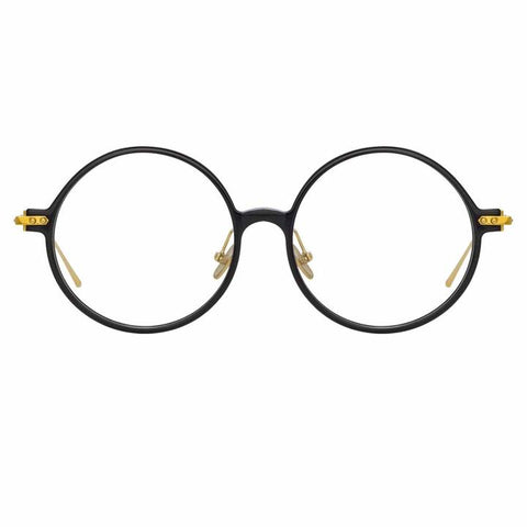 Linda Farrow Linear - Savoye 53mm Black Light Gold Eyeglasses / Demo Lenses