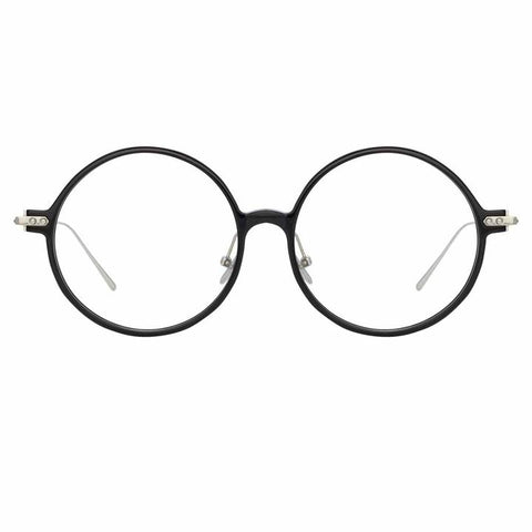Linda Farrow Linear - Savoye 53mm Black White Gold Eyeglasses / Demo Lenses
