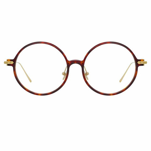 Linda Farrow Linear - Savoye 53mm T-Shell Luna Gold Eyeglasses / Demo Lenses