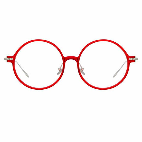 Linda Farrow Linear - Savoye 53mm Crimson White Gold Eyeglasses / Demo Lenses