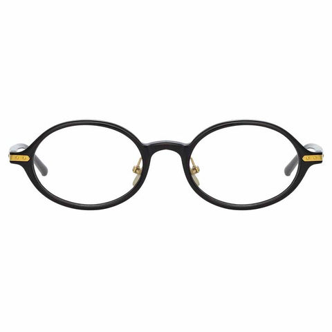 Linda Farrow Linear - Eaves 46mm Black Light Gold Eyeglasses / Demo Lenses
