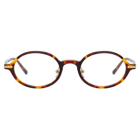 Linda Farrow Linear - Eaves 46mm T-Shell Luna Gold Eyeglasses / Demo Lenses