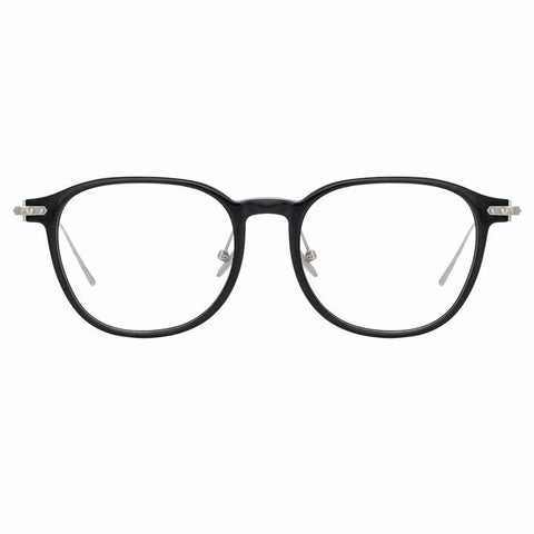Linda Farrow Linear - Meier 52mm Black White Gold Eyeglasses / Demo Lenses