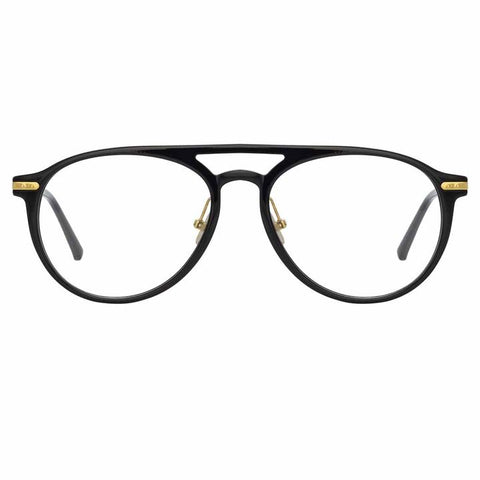 Linda Farrow Linear - Ando 55mm Black Light Gold Eyeglasses / Demo Lenses