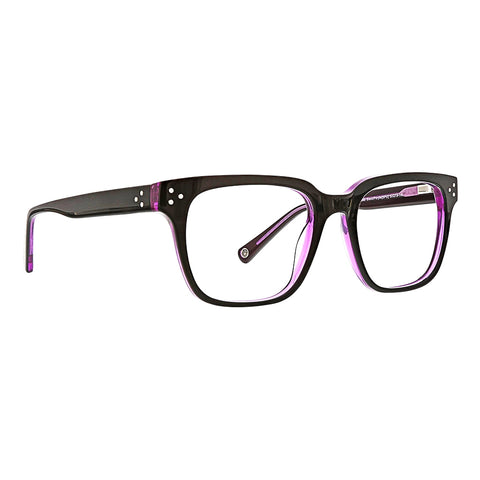 Life is Good - Morgan 53mm Black Purple Eyeglasses / Demo Lenses