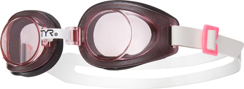 TYR - Youth Foam Black Swim Goggles / Pink Lenses