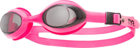 TYR - Youth Flexframe Pink Swim Goggles / Smoke Lenses