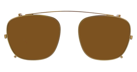 Life is Good - Eddy 51mm Gold Clip On Sunglasses / Bronze Lenses
