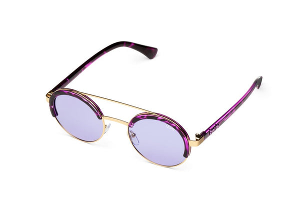 Quay Come Around Purple Tortoise Sunglasses / Purple Lenses