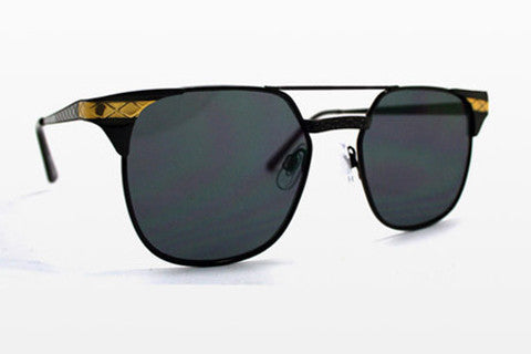 Spitfire - Lo Fi Black & Gold Sunglasses, Black Lenses