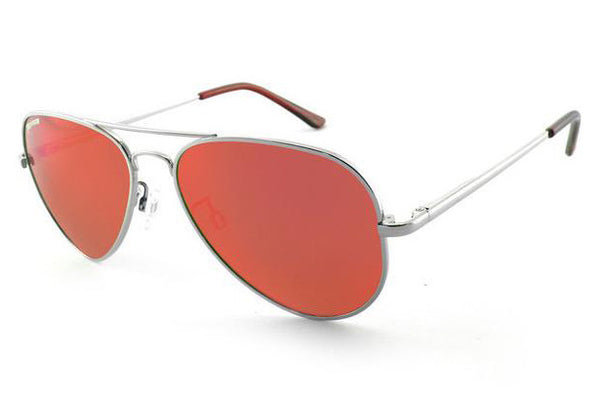 Peppers - Maverick Silver Sunglasses, Red Mirror Lenses