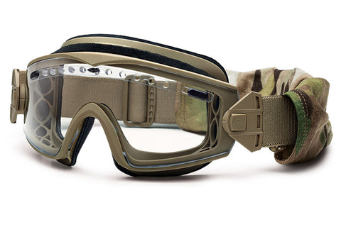 Smith - Lopro Regulator Tan 499 Tactical Goggles, Clear Mil-Spec Field Kit Lenses
