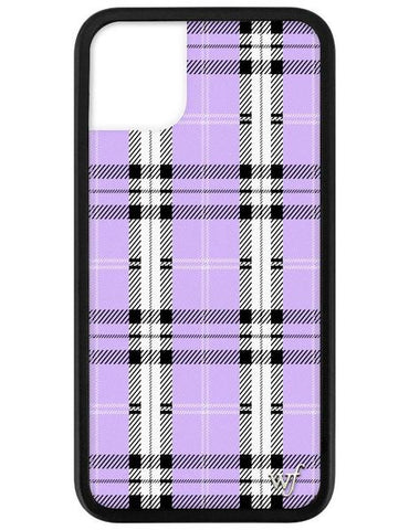Wildflower - Lavender Plaid iPhone 11 Phone Case