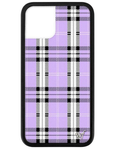 Wildflower - Lavender Plaid iPhone 11 Pro Phone Case