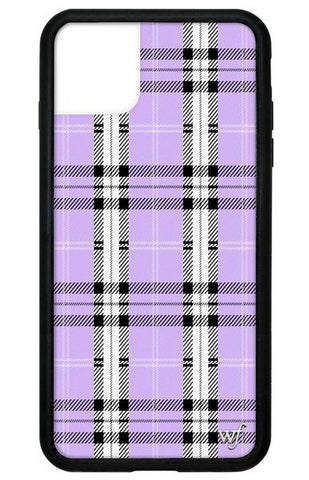Wildflower - Lavender Plaid iPhone 11 Pro Max Phone Case