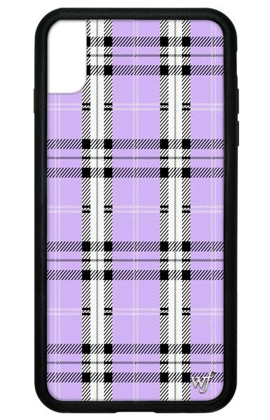 Wildflower - Lavender Plaid iPhone XS Max Phone Case