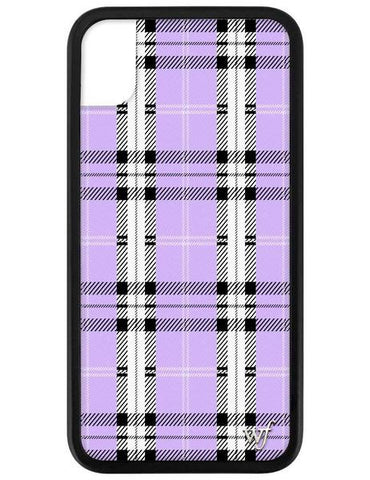 Wildflower - Lavender Plaid iPhone XR Phone Case