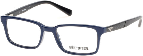 Harley-Davidson - HD0127T Shiny Blue Eyeglasses / Demo Lenses