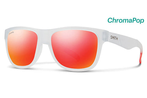 Smith - Lowdown Slim Matte Crystal Red Sunglasses, ChromaPop Sun Red Mirror Lenses