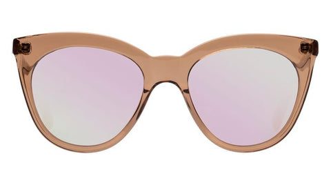 Le Specs - Supermoon Tan Sunglasses / Peach Revo Mirror Lenses