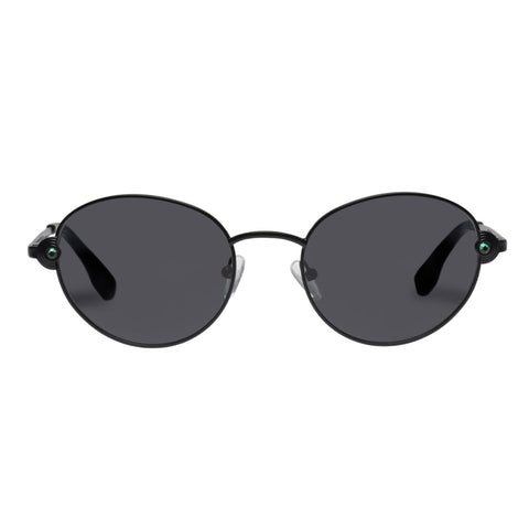 Le Specs - Vamp 53mm Matte Black Sunglasses / Smoke Mono Lenses