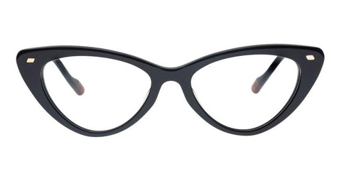 Le Specs - Heart On Black Eyeglasses / Demo Lenses