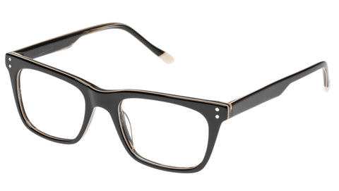 Le Specs - The Mannerist Black Wood Eyeglasses / Demo Lenses
