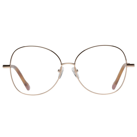 Le Specs - Grand Entrance 56mm Rose Gold Eyeglasses / Demo Lenses