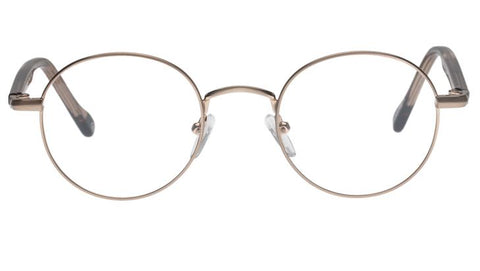 Le Specs - Spotlight Brushed Rose Gold Eyeglasses / Demo Lenses