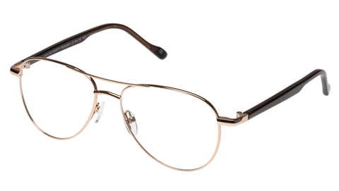 Elasta - E 3055 59mm Rose Gold Eyeglasses / Demo Lenses