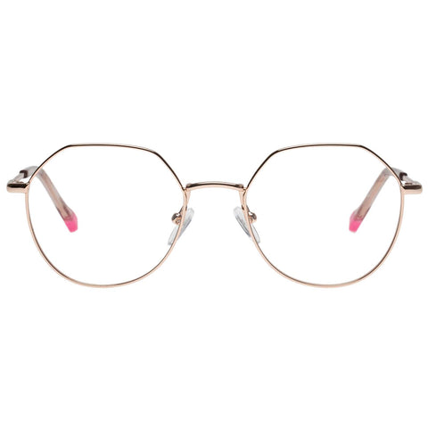 Le Specs - Fanatic 52mm Rose Gold Eyeglasses / Demo Lenses