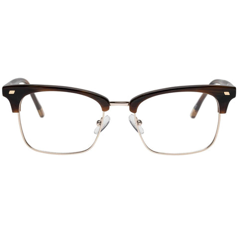 Le Specs - Jiver 51mm Teak Gold Eyeglasses / Demo Lenses